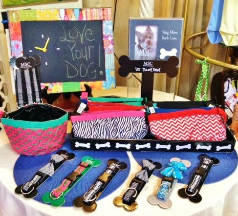 Pamper your pooch with adorable bow tie collars, coordinating leashes, and travel bowls!