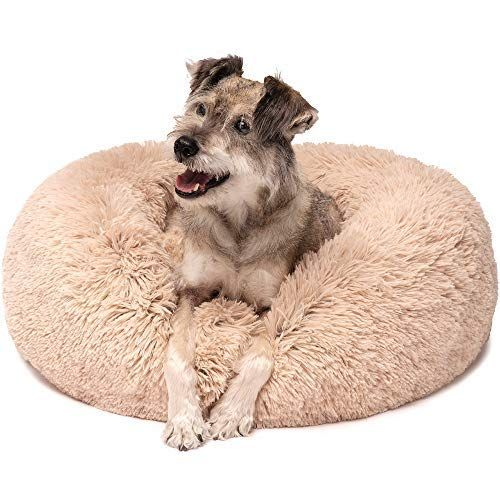 Friends Forever Premium Donut Bolster Orthopedic Dog Bed For Puppy To Medium Dogs Cat Medium Tan In 2020 Orthopedic Dog Bed Faux Fur Dog Beds Donut Dog Bed