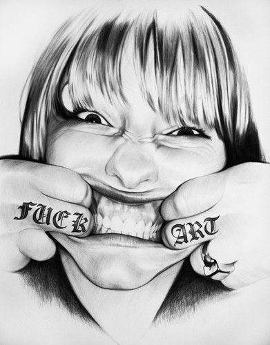 // FUCK ART. Por Juan Francisco Casas. A boli bic.