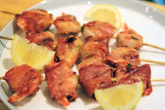 Prosciutto-Wrapped Chili Shrimp with Green Onions | Recipe | Shrimp ...