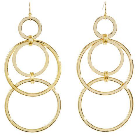 Gold Plated Interlocking Earrings