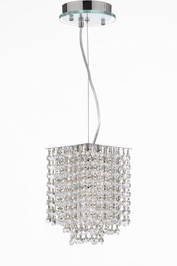 Gallery Retractable Pendant Dressed with Crystal by Gallery Chandeliers on @HauteLook