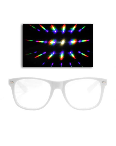 Solid Clear Diffraction Glasses