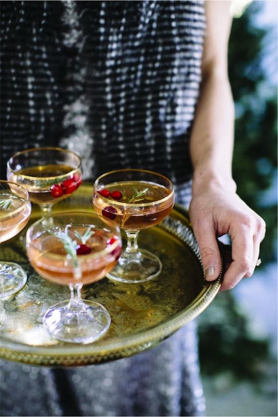 elegant holiday cocktails