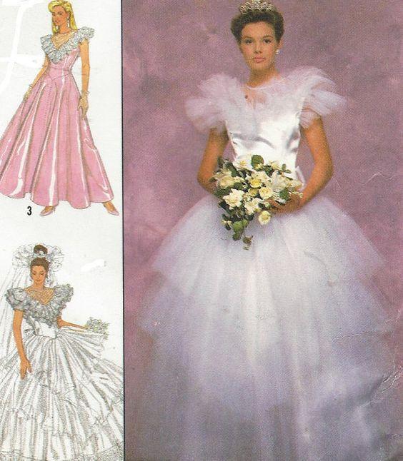 80s Jessica McClintock Womens Fairytale Wedding by CloesCloset