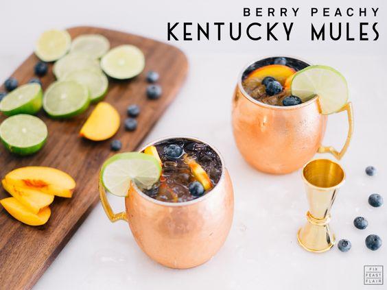 Berry Peachy Kentucky Mules Recipe, #DRINKTHESUMMER — Fix Feast Flair