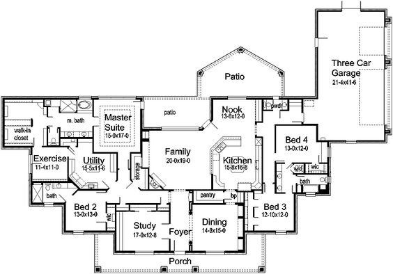 Exercise rooms house plans and layout on pinterest for Sewing room floor plans
