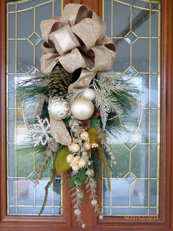 Christmas Door Swag- Christmas Wreath - Wreaths - Holiday Door