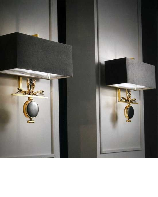 Contemporary Bedroom Wall Lights: Luxury Designer Gold Plated Peweter Medallion Wall Sconces