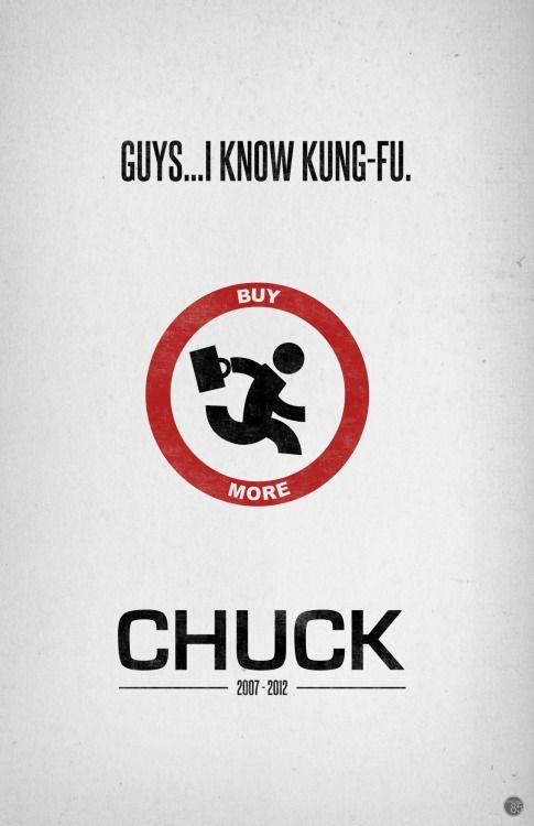 Chuck (2007–2012) ~ Minimal TV Series Poster by Kyle Barrett #amusementphile