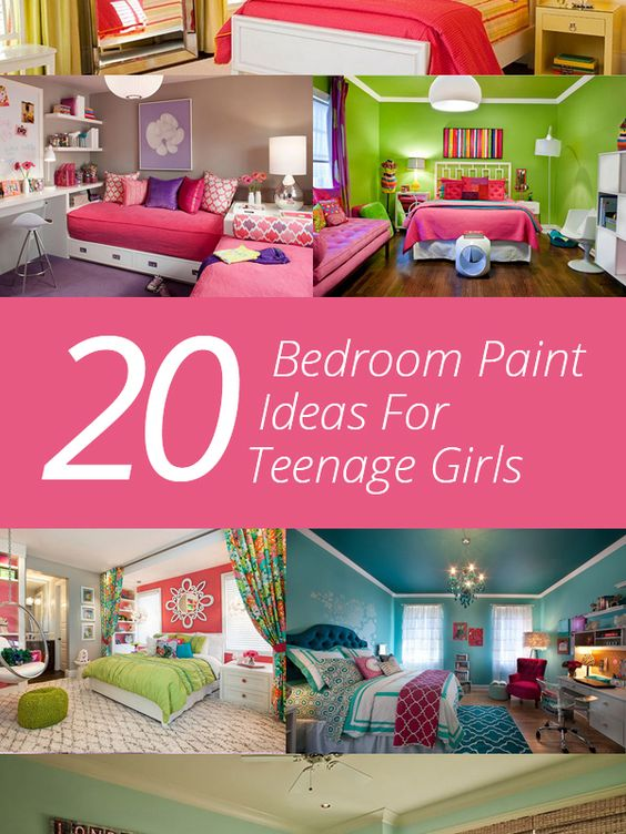 20 bedroom paint ideas for teenage girls girls home and for Teenage girl room paint ideas