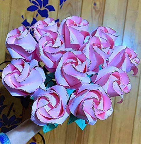 Best Seller Dozen Origami Paper Roses Flower Bouquet Wedding Anniversary Valentine Gift Online In 2020 Rose Bouquet Valentines Red Rose Bouquet Flower Bouquet Wedding