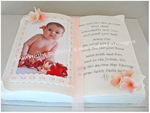Bible Christening Cake with frangipani by EliteCakeDesigns ...