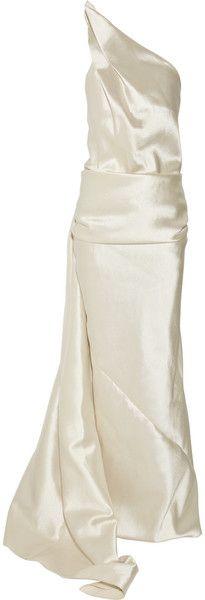 DONNA KARAN NYC   Asymmetric Woolblend Gown