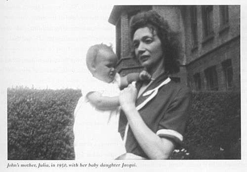 Julia John S Mother With Jacqui 1950 With Images Imagine John Lennon Love John Lennon The Beatles