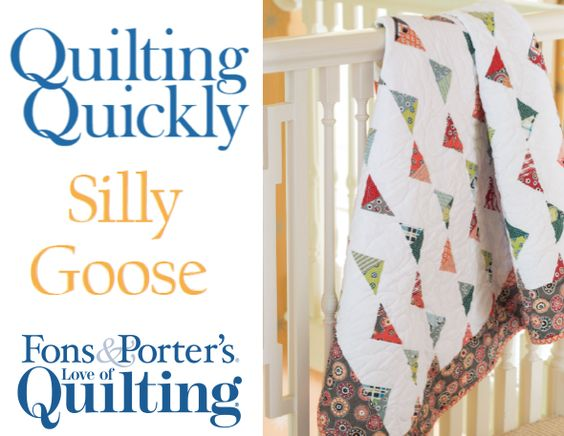 "How To Make a Fun ""Silly Goose"" Quilt"