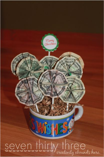 money bouquet...will do this!