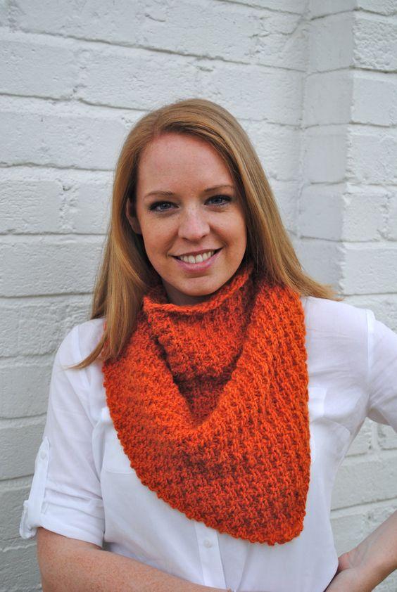 Orange laine d'alpaga bandana châle par travelingbird sur Etsy, $60,00