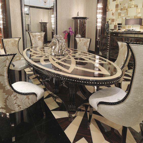 15 Astonishing Oval Dining Tables For Your Modern Dining Room Modern Dining Tables Glamourous Dining Room Luxury Dining Room Luxury Dining