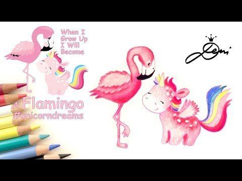 Flamingo Malen Einhorn Zeichnen Nach Vorlage Unicorn Drawing Flamingo I Ednorog Risunka Youtube Einhorn Zeichnen Zeichnen Zeichenvorlagen
