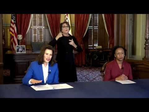 March 23 Governor Whitmer Press Conference Stay Home Stay Safe Youtube In 2020 Governor Stay Safe Conference