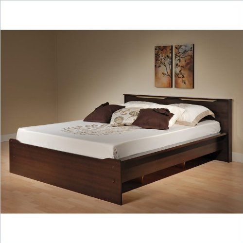 "Coal Harbor Queen Platform Bed with Headboard (Espresso) (31.5""H x 69.5""W x 83.25""D) $272.49"
