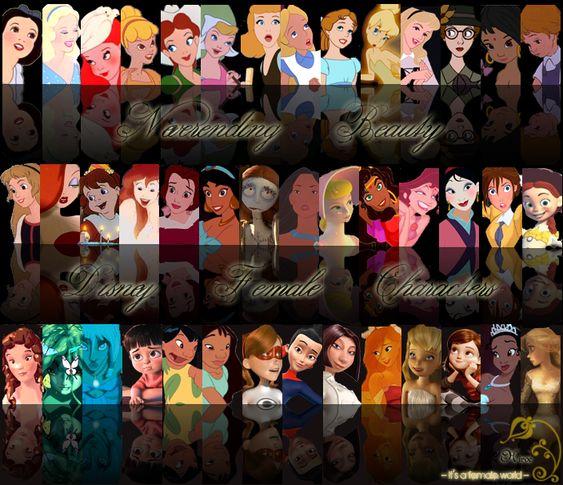 Neverending Beauty. Disney Female Characters.