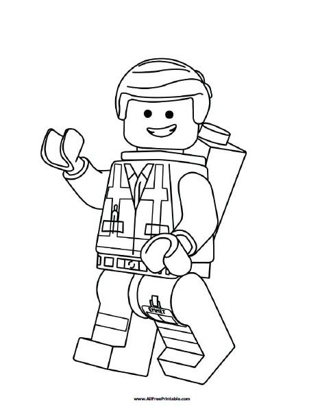 Lego Emmet Coloring Page Free Printable Allfreeprintable Com Emmet The Ordinary Guy From Lego Movie Coloring Pages Lego Lego Emmet Coloring Page Free Colori