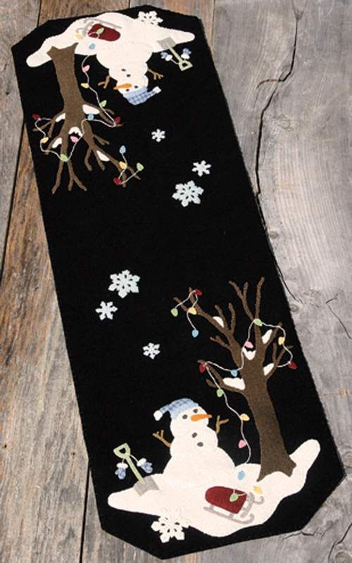 Silent Night Frosty Night Wool Applique Pattern