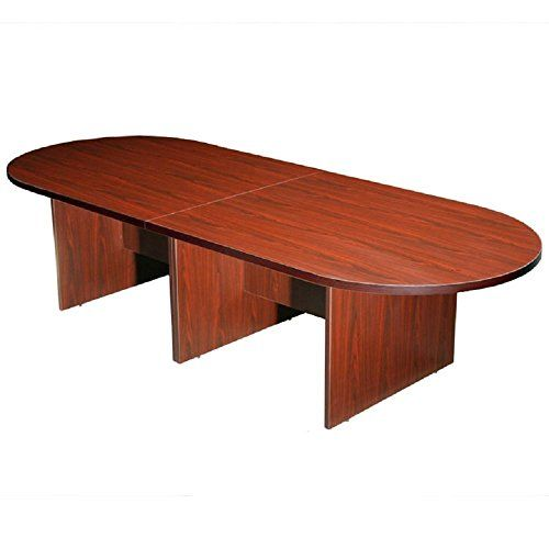 Boss Office Products 10ft Race Track Conference Table Mahogany Conference Table Table Computer Desks For Home