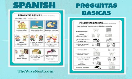 Tweet TweetWe are going to work on learning basic conversation questions and phrases in our Spanish class. I made a short video and a few worksheets to help us learn and review these concepts. Here's the short video:  Have your child watch the video at least twice a week (or more) as a part  [Read On]