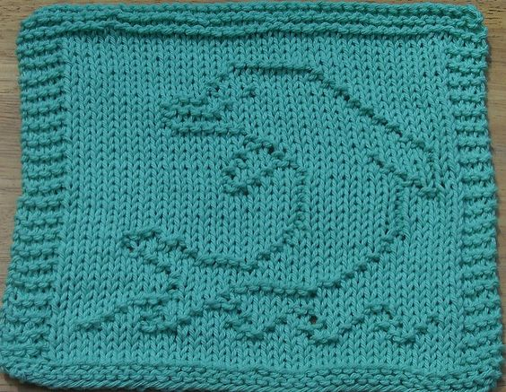 Dolphin Knitting Pattern Free : Ravelry: Dolphin Dishcloth pattern by Lisa Millan Dishcloth Pinterest D...