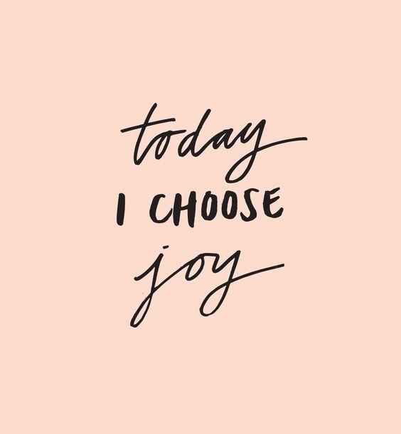 Hoje escolho alegria