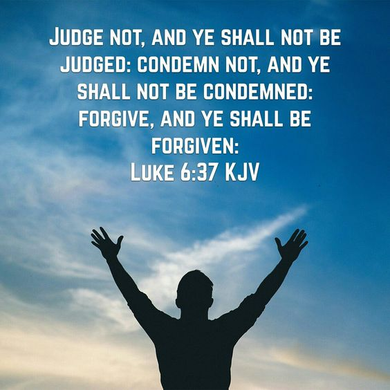 Luke 6:37 judge not