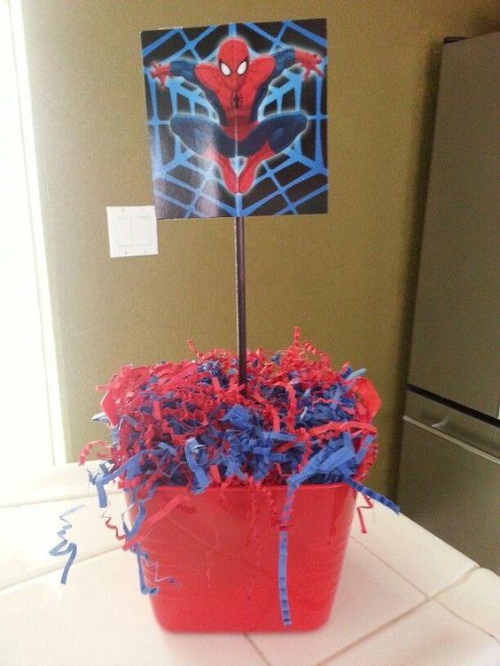 Idea 11 de cumple Spiderman by MundoMab