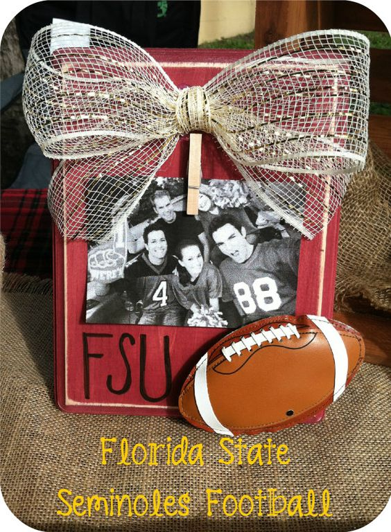 florida state university football picture frame rustic gold fsu frame