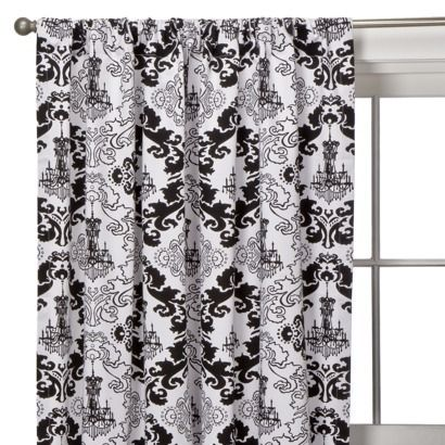 White Curtains black and white curtains target : Xhilaration® Chandelier Window Panel - Black | EquiVita ...