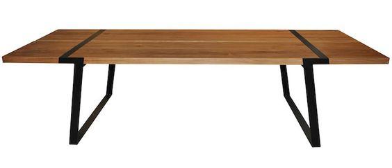 Rustic spisebord   spisebord i olieret eg. bordet er støttet af ...