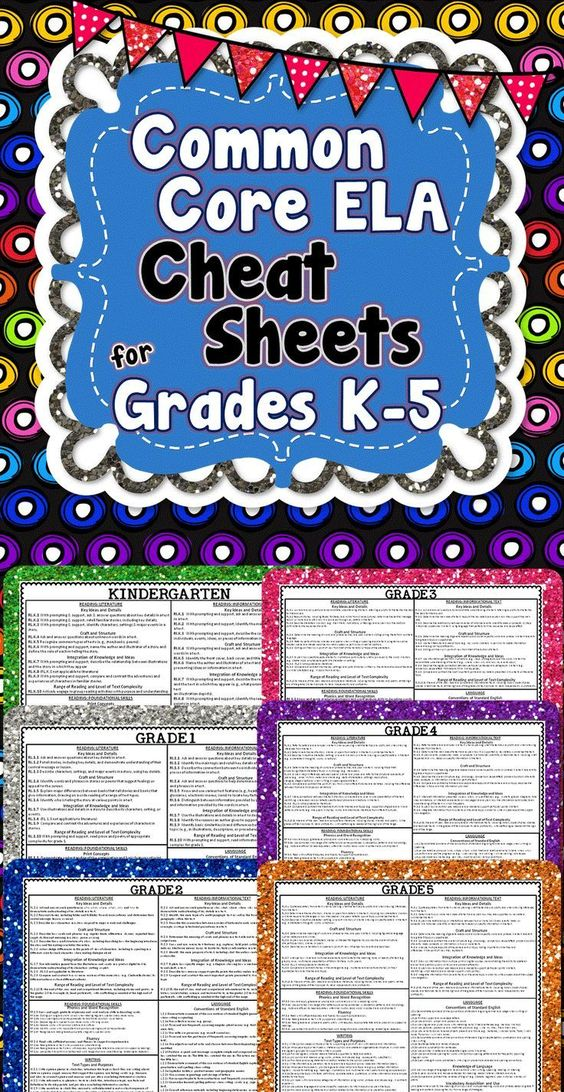 *FREEBIE!* This freebie has Common Core English Language Arts Cheat Sheets for grades K-5!! All ELA standards are on 1 page! #commoncore #ELA (scheduled via http://www.tailwindapp.com?utm_source=pinterest&utm_medium=twpin&utm_content=post1170123&utm_campa