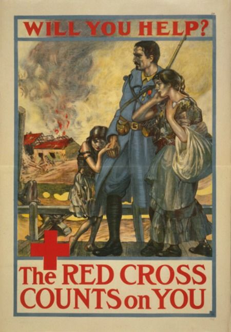 Vintage WWI Red Cross Poster