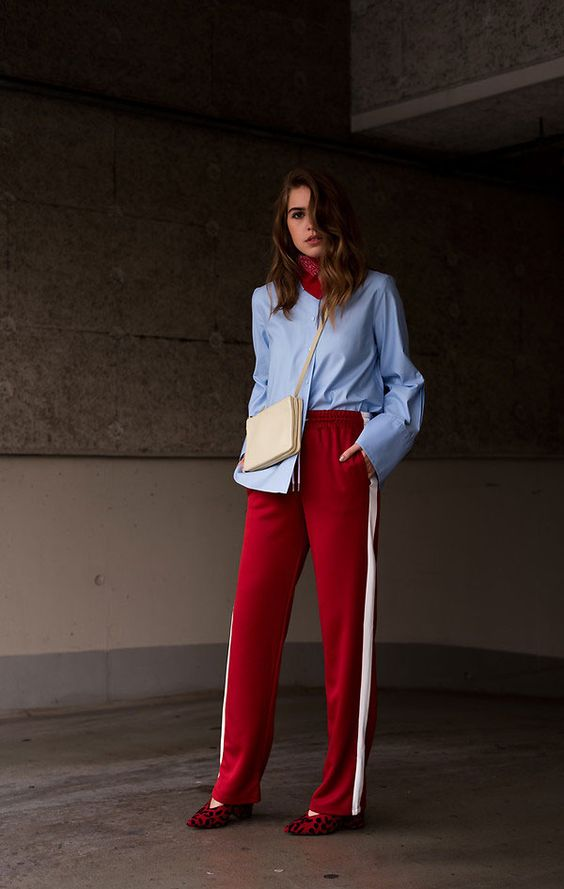 it-girl - sapatos - sporty chic - chic - social - camisa social - calça moletom