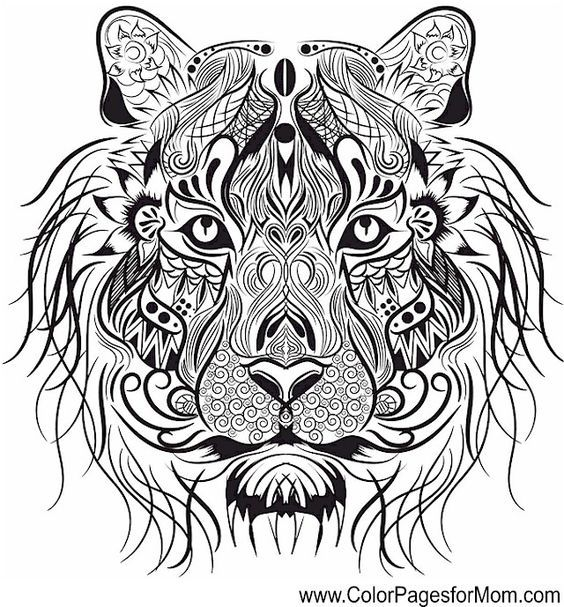 Tiger Mandala Coloring Pages Coloringpagesforkids