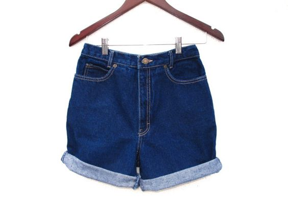 Hipster Calvin Klein Mid High Waist Jean Shorts by BlueRoseRetro, $29.00