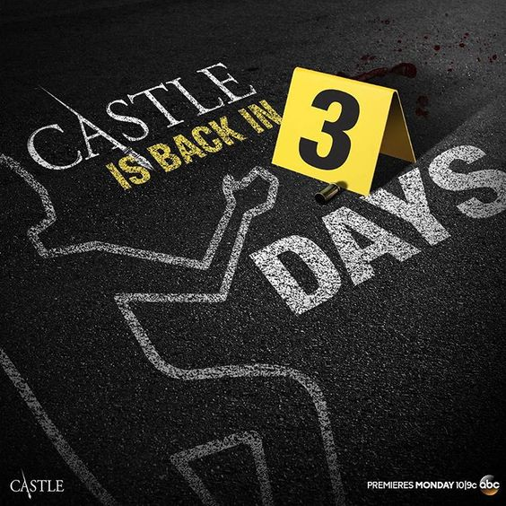 """New cases start in 3 DAYS! #CastleIsBack"""