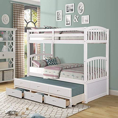 New Solid Wood Bunk Beds Kids Hardwood Twin Over Twin Bunk Bed