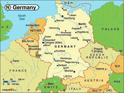 map of germany - was in Kassel