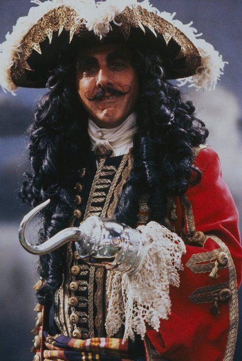 dustin hoffman as captain hook in hook:
