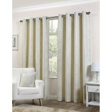 46x72in (117x183cm) Palma Floral Natural Cream Eyelet Curtains