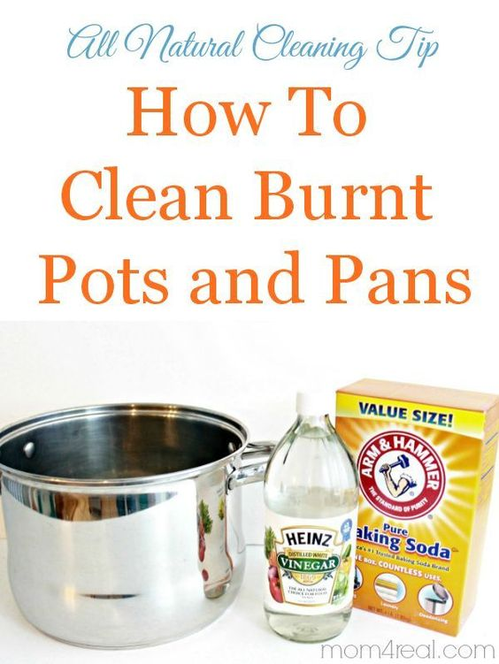 Clean burnt pots and pans in minutes with two simple ingredients you probably already have in your pantry! Natural Living Tips , DIY projects , #DIY Natural Living Tips , DIY projects , #DIY