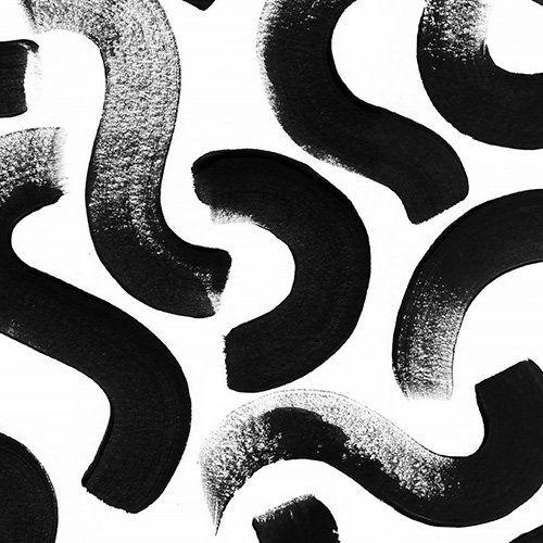 Black Brush Stroke Wallpaper Mural Muralswallpaper In 2020 Face Line Drawing Drawing Wallpaper Abstract Wallpaper Design